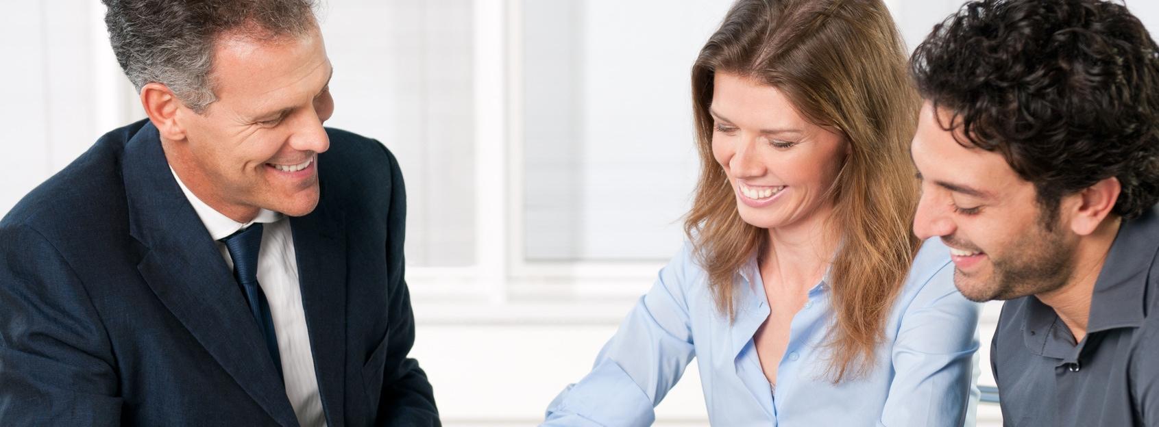 BPM Banken - Bankberater mit Kunden