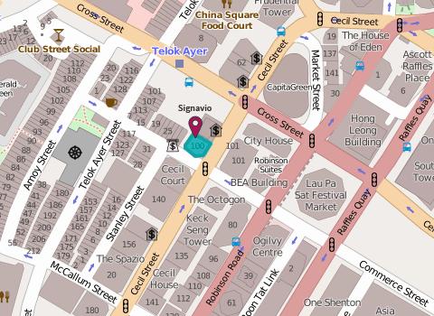 Map of Signavio Singapore