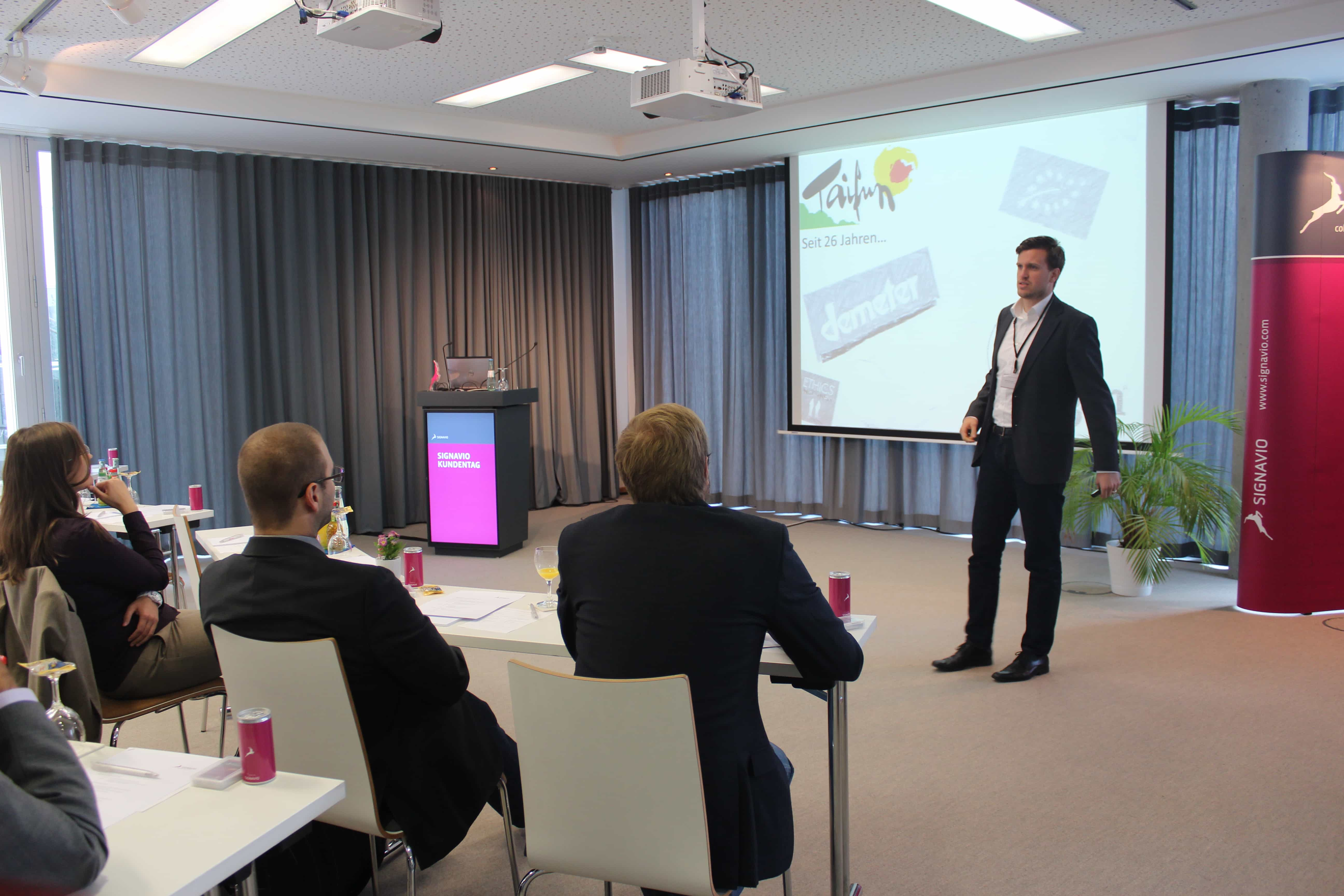 Presentation at the 3rd Signavio Customer Day in Berlin