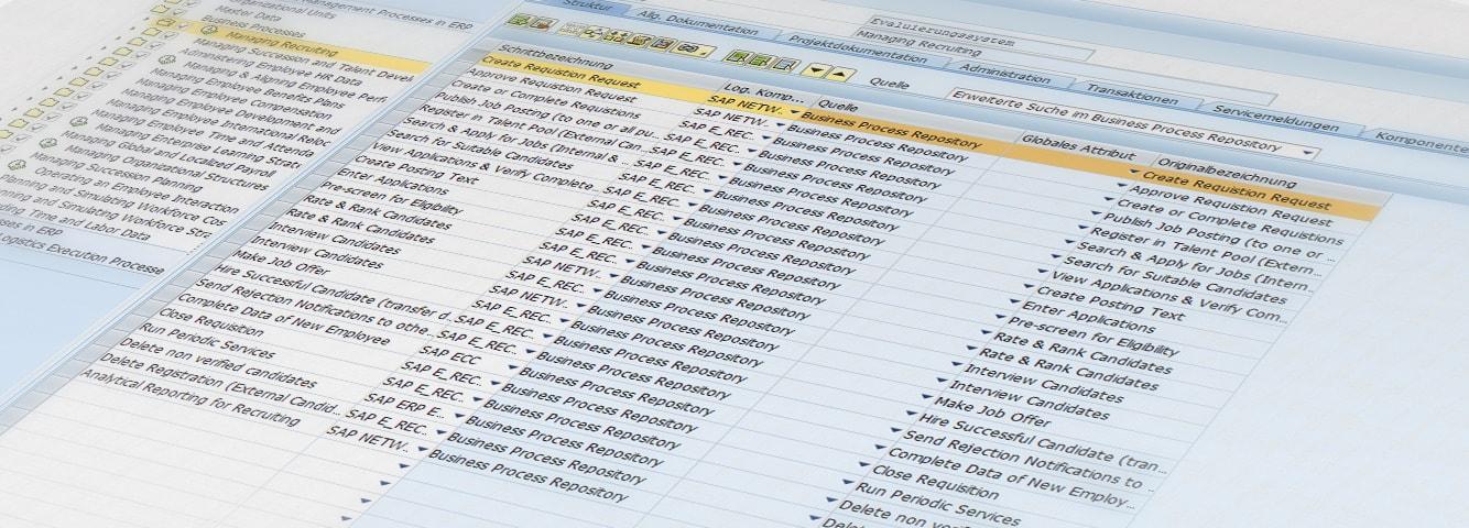 SAP Solution Manager Screenshot