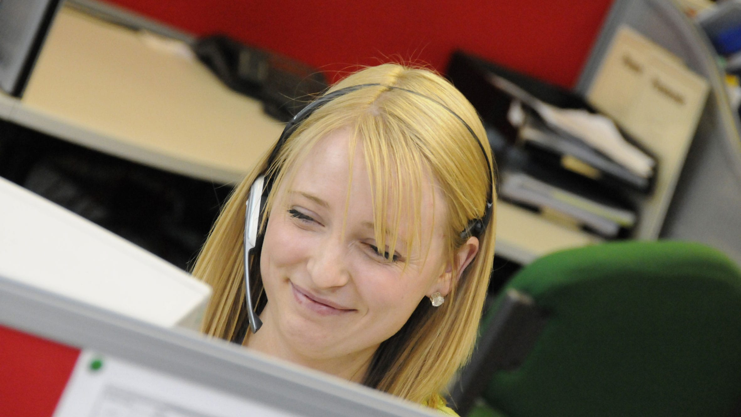 A call-centre employee