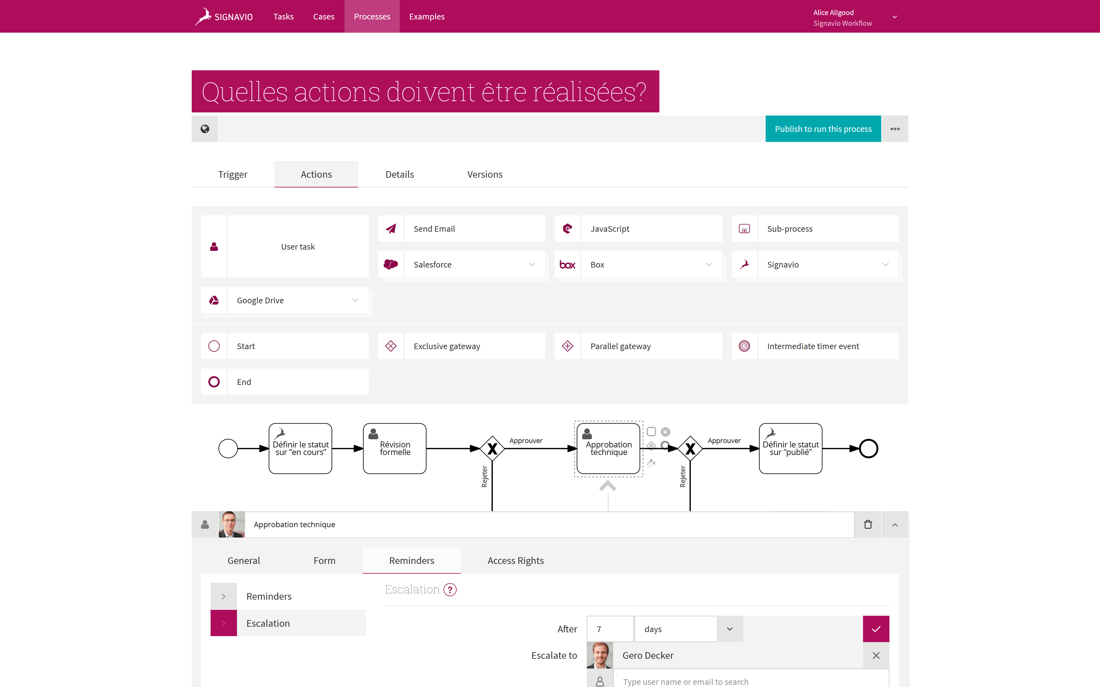 Approval Workflow - Signavio Process Editor Screenshot