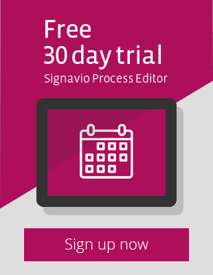 Sign up now for a free 30 day trial of the Signavio Process Editor!