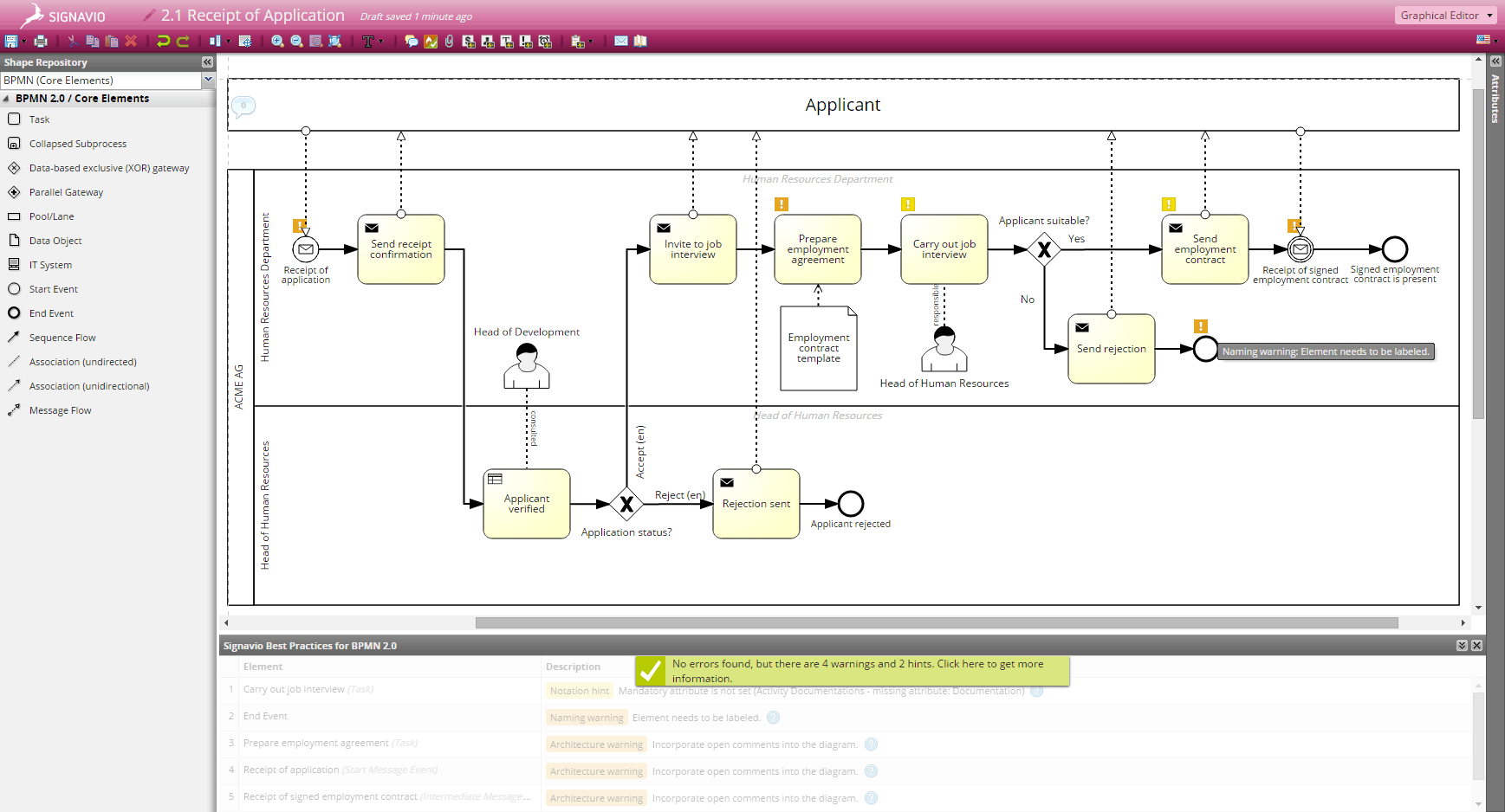 Check diagrams automatically to match modeling convetions