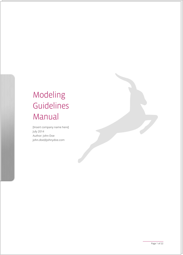 Cover preview of Modeling Guidelines Manual