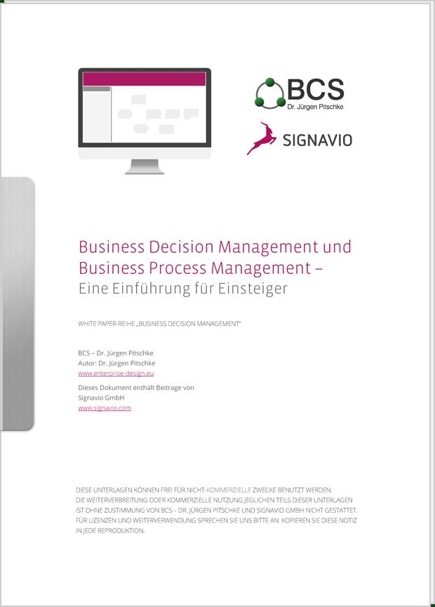 Vorschaubild: Whitepaper Business Decision Management und Business Process Management – Eine Einführung für Einsteiger