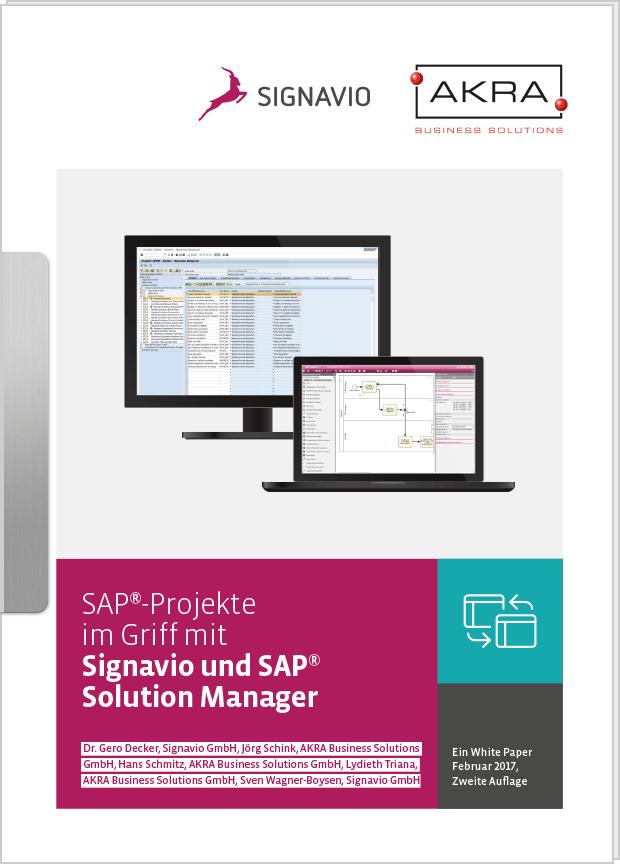 Whitepaper SAP®-Projekte mit Signavio und SAP® Solution Manager