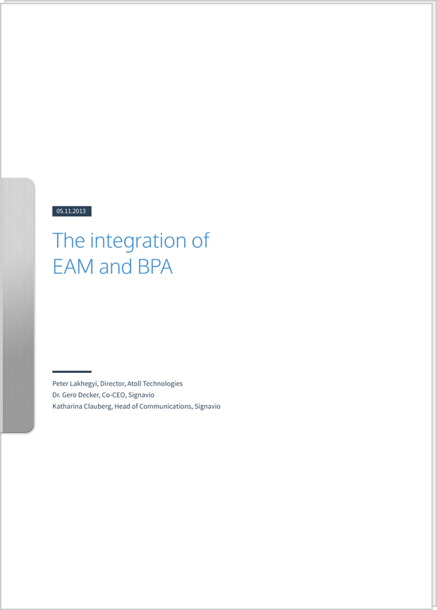 Cover preview: White Paper The integration of EAM and BPA