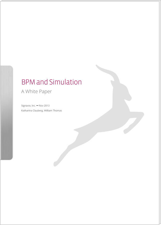Cover preview: White Paper BPM and Simulation