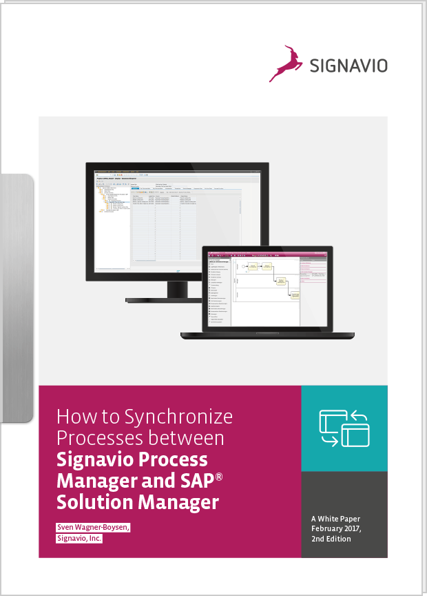 How to synchronize Processes between Signavio Process Manager & SAP® Solution Manager