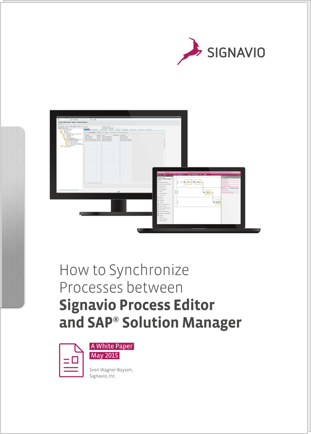 Cover preview: White Paper How to Synchronize Processes between Signavio Process Editor and SAP ® Solution Manager