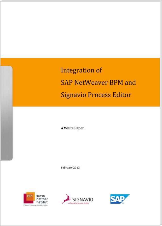 Vorschaubild: Whitepaper Integration of SAP NetWeaver BPM and Signavio Process Editor