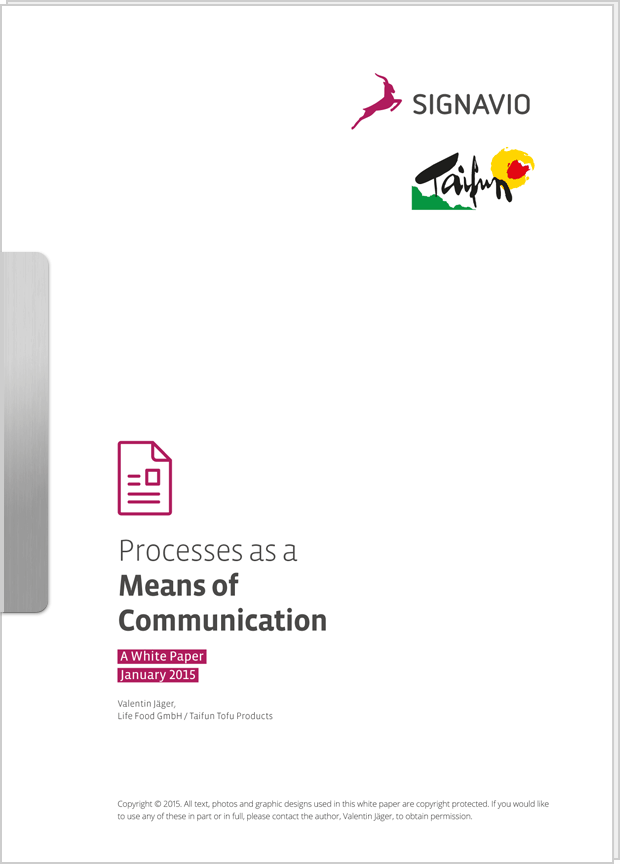 Cover preview: White Paper Processes as a Means of Communication