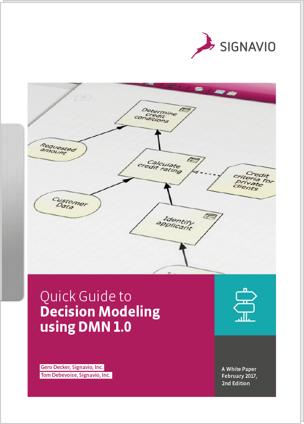 White Paper Quick Guide to Decision Modeling using DMN 1.0 preview