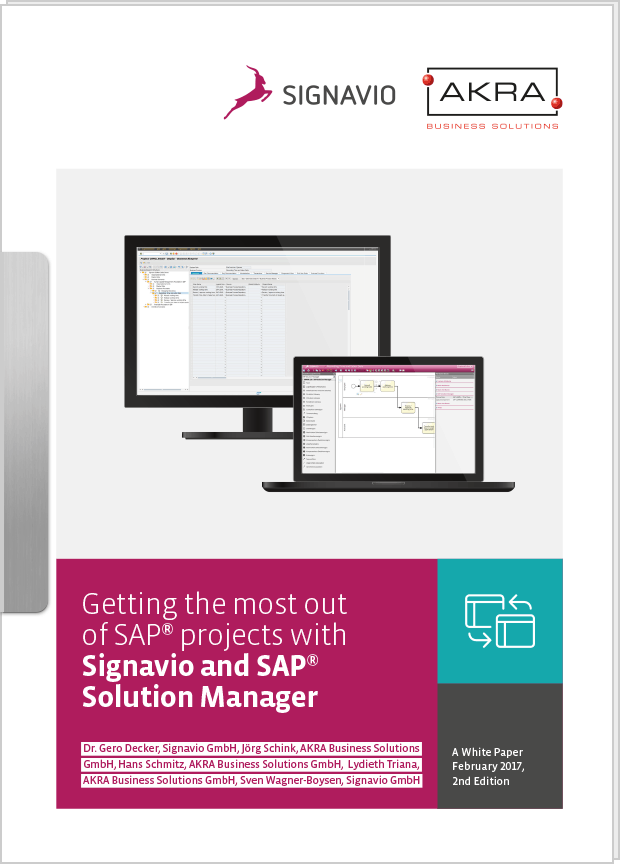 White Paper SAP® projects with Signavio and SAP® Solution Manager preview