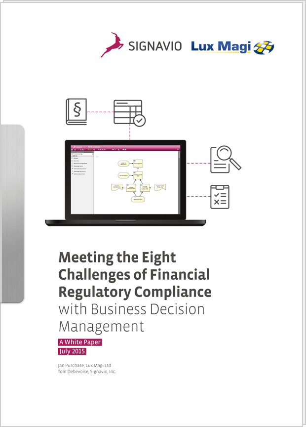 Cover preview: White Paper Meeting the 8 Challenges of Financial Regulatory Compliance with BDM