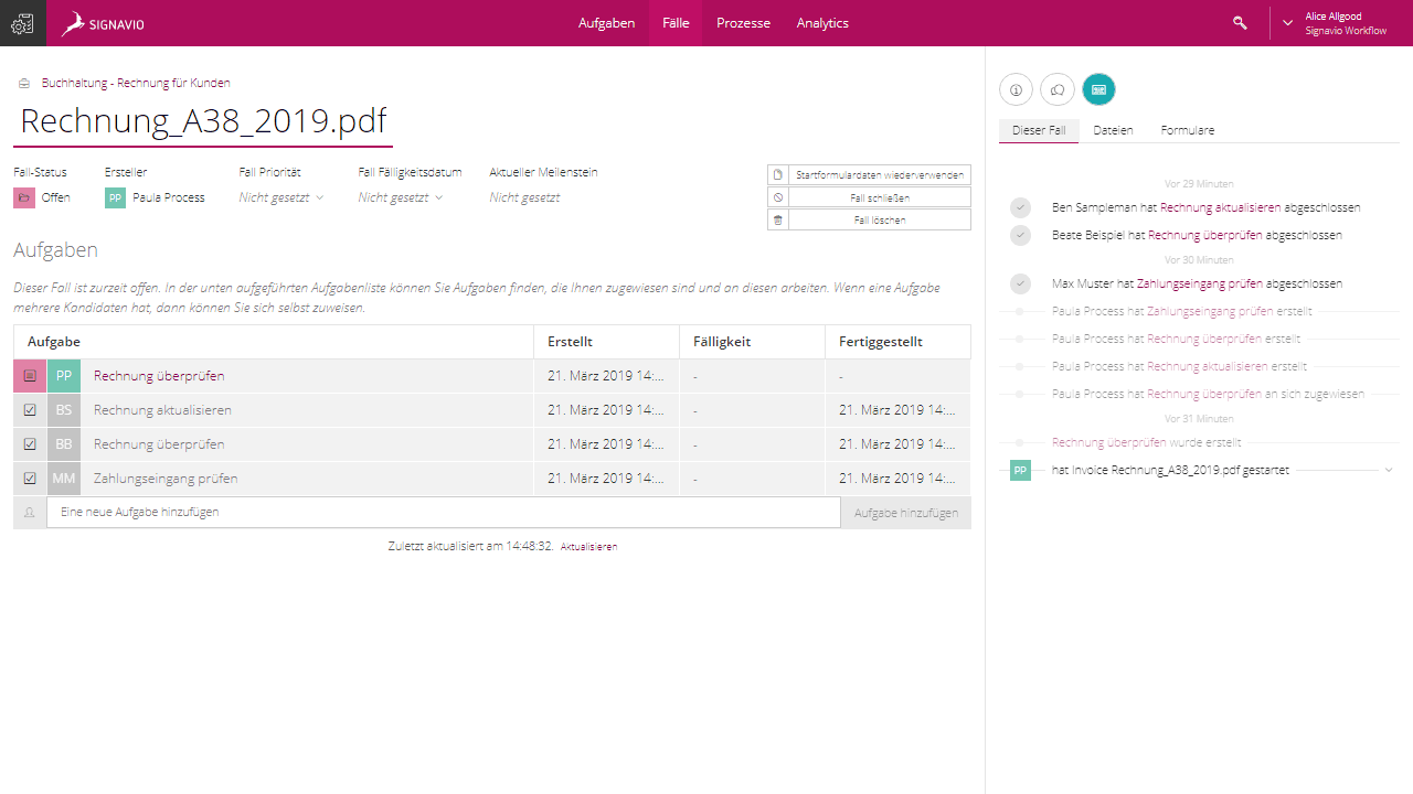 Collaboration feature screenshot