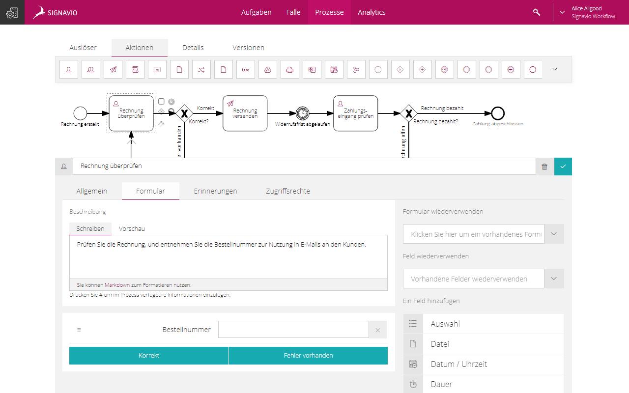 Form Builder feature screenshot