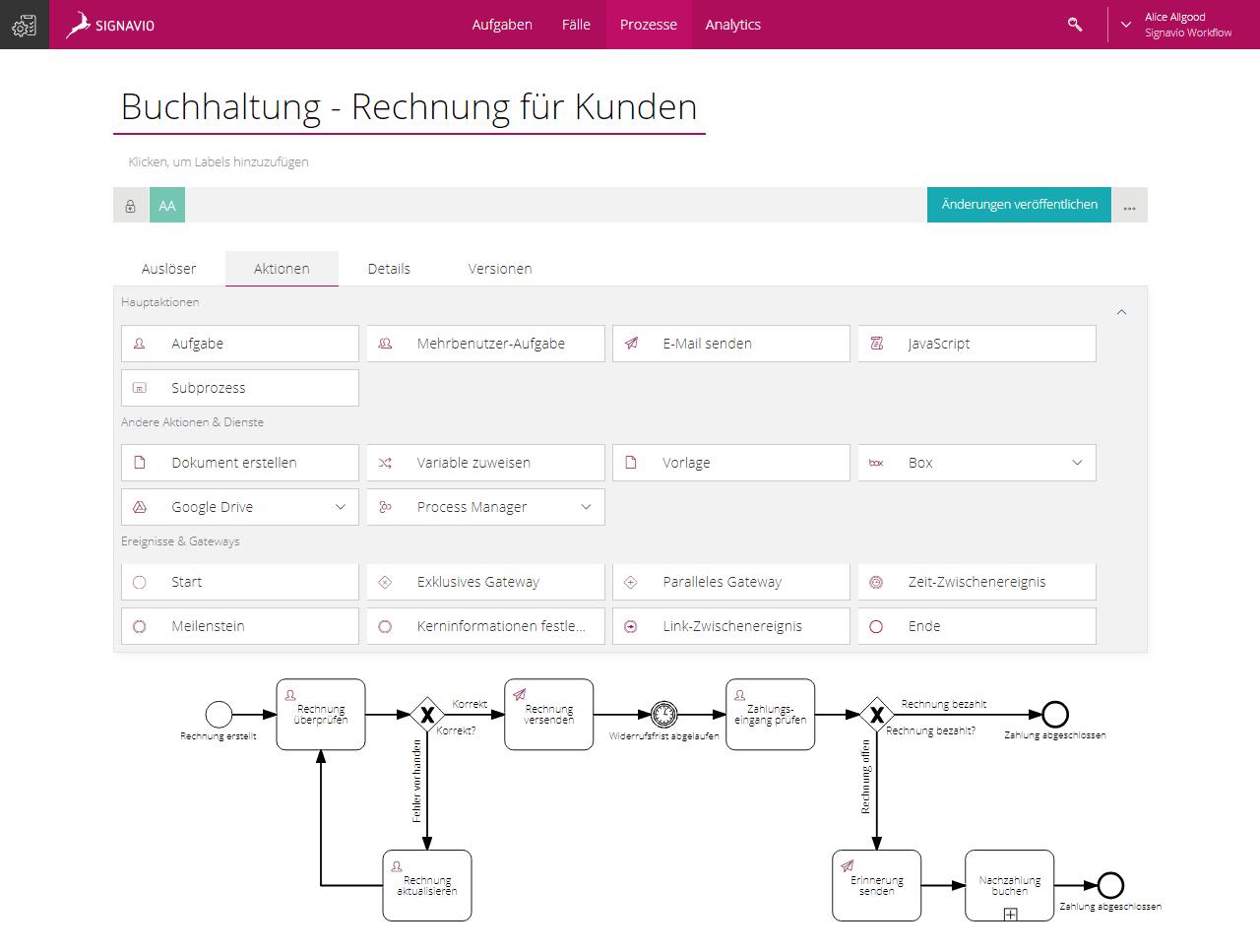 Process Builder feature screenshot