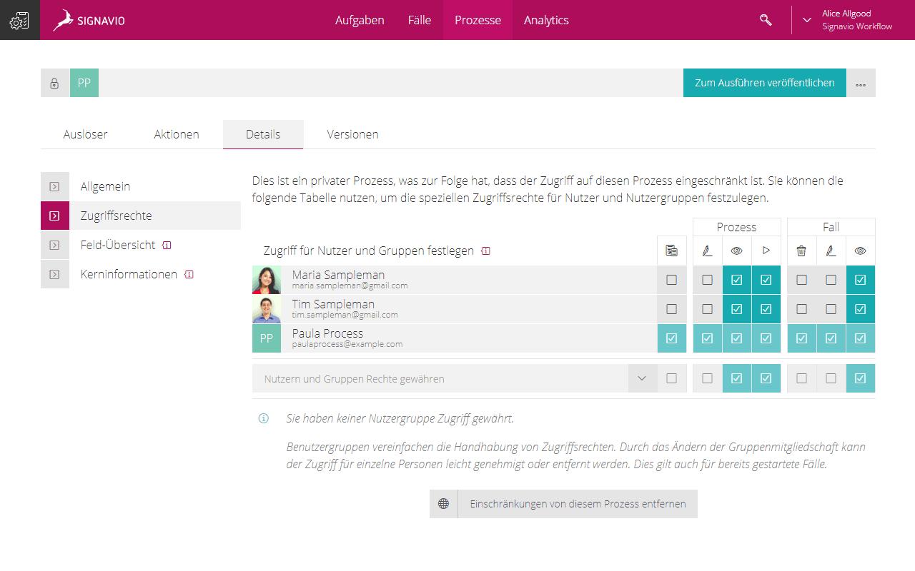 Access Permission feature screenshot