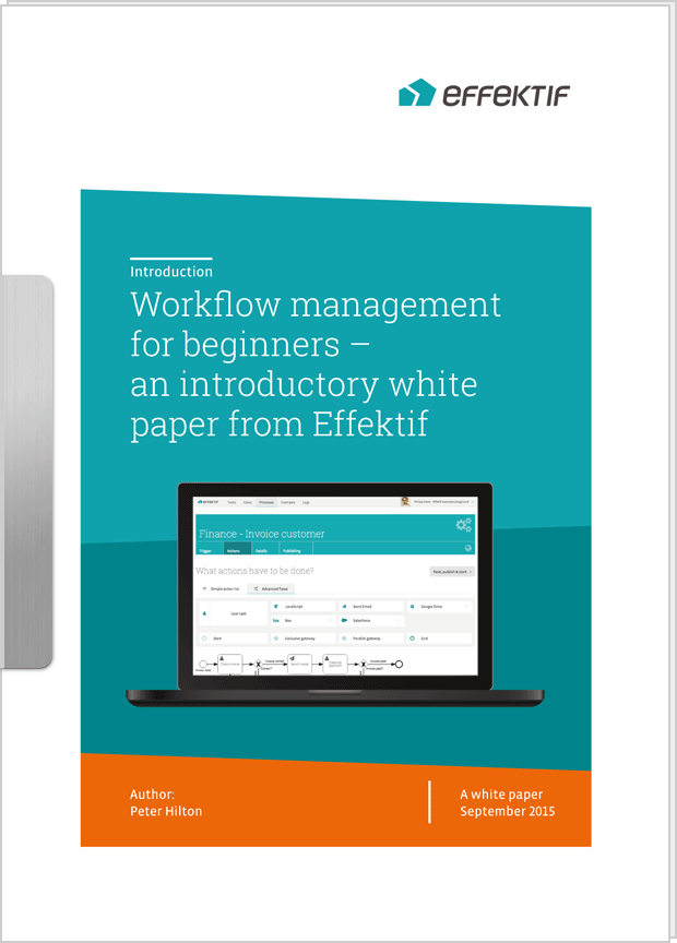 Cover image: Workflow management for beginners – an introductory white paper from Effektif