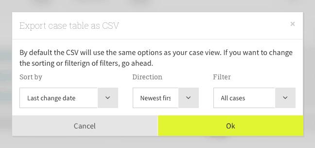 Export as CSV