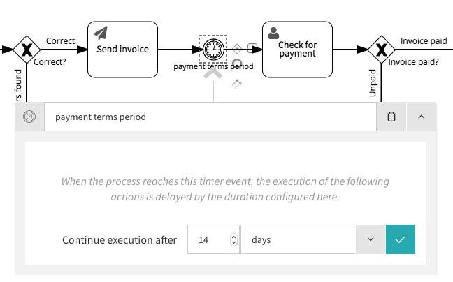 Intermediate timer event configuration