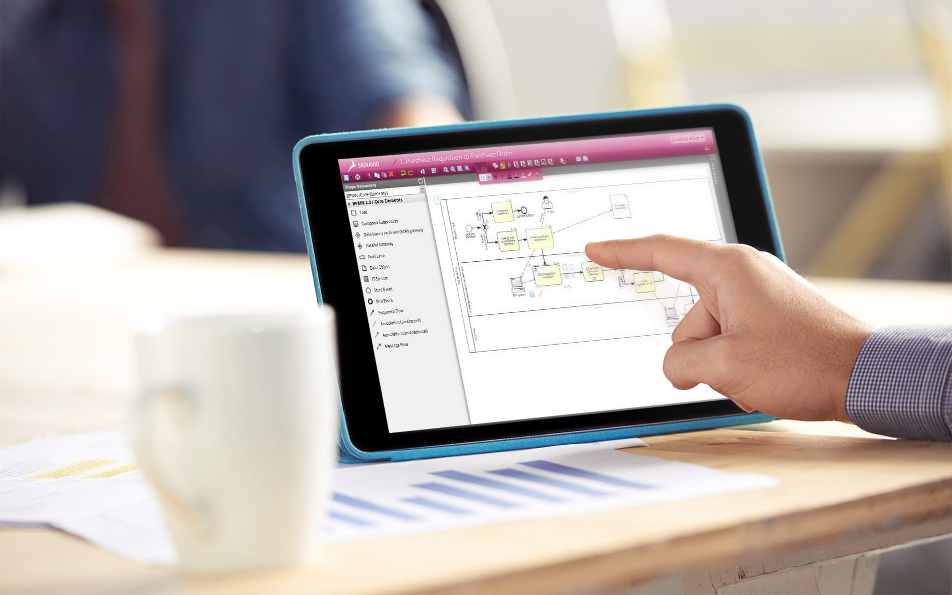 BPM Tool auf einem Bildschirm
