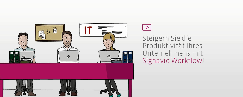 Workflowoptimierung mit Signavio Workflow Video Logo