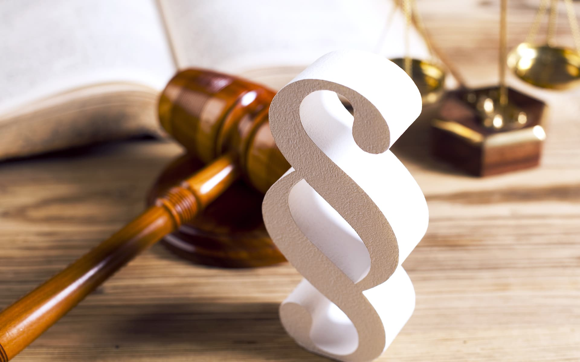 The picture shows a paragraph icon of a law book