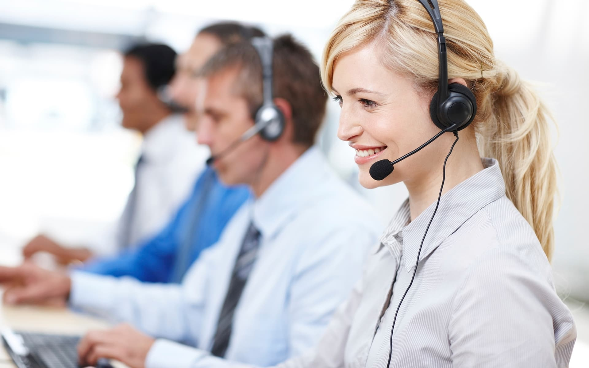 Call center team work