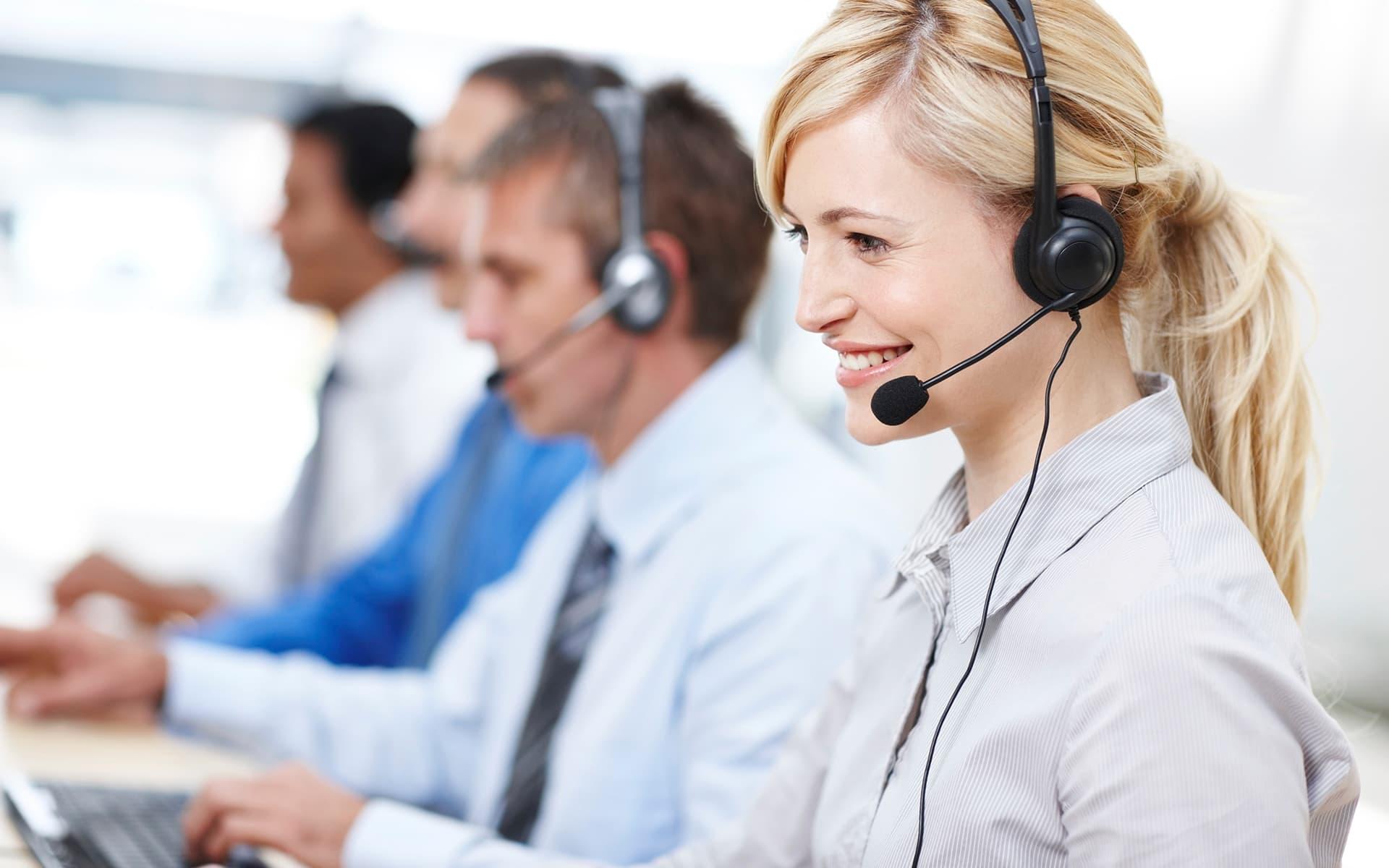 Call center team work