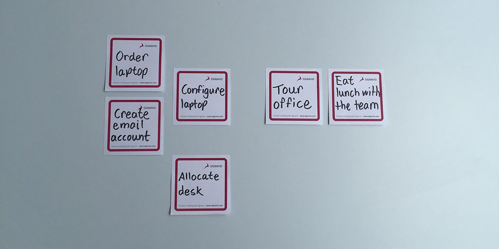 tasks - process mapping with sticky notes