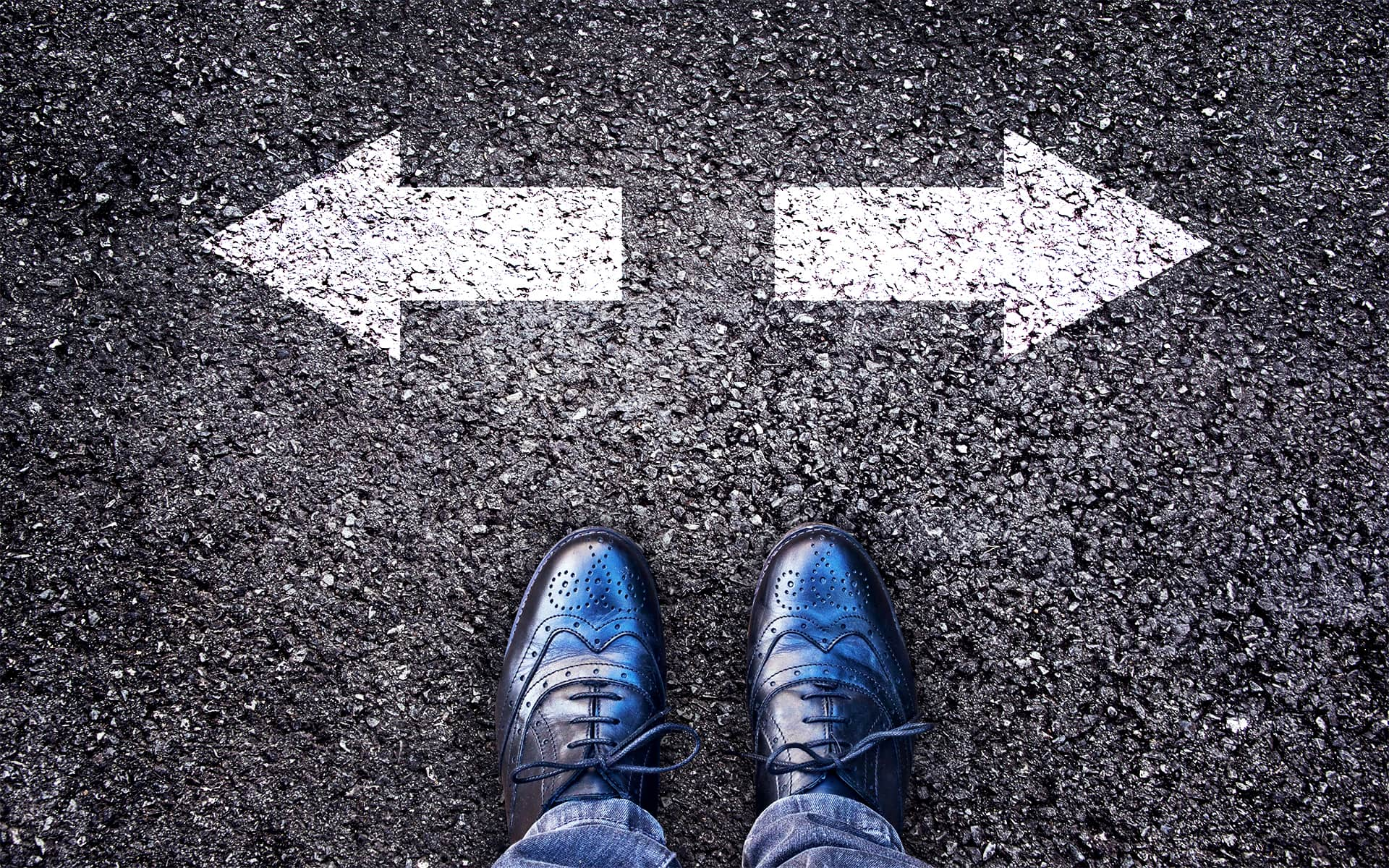 Rebooting Your BPM initiatives - 2 direction- arrows on the floor