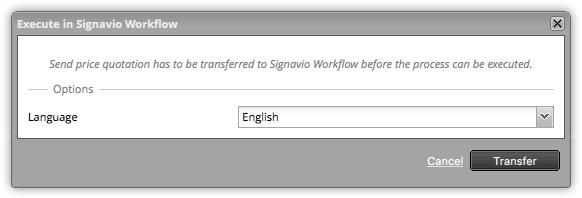 Execute in Signavio Workflow - confirmation dialogue