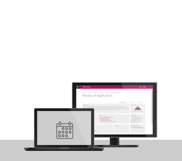 BPMN Tool auf dem Bildschirm