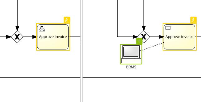 Signavio Diagram Comparison tool screen