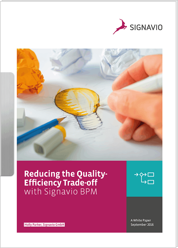 White Paper: Reducing the Quality/Efficiency Trade-off with Signavio BPM