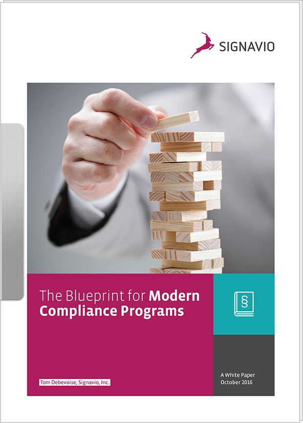 The blueprint for modern compliance programs signavio white paper the blueprint for modern compliance programs malvernweather Image collections