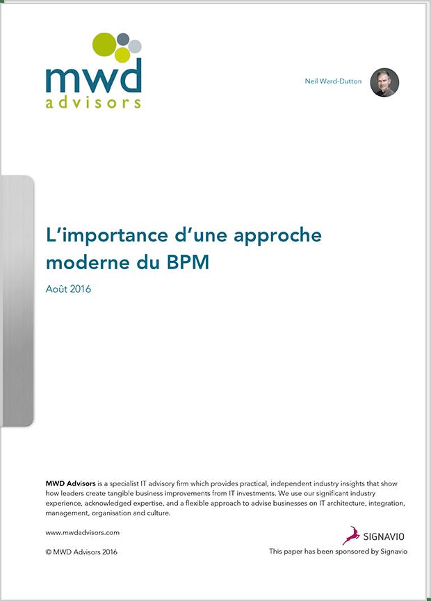 Rapport : L'importance d'une approche moderne du BPM