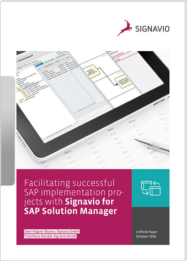White Paper: Facilitating successful SAP implementation projects with Signavio for SAP Solution Manager