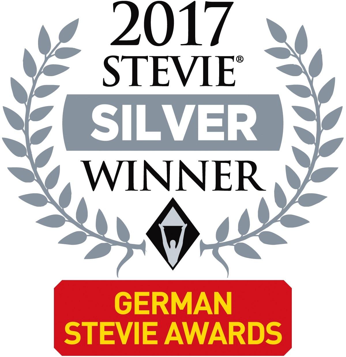 German Stevie Awards Logo: signavio 2 silver stevie awards