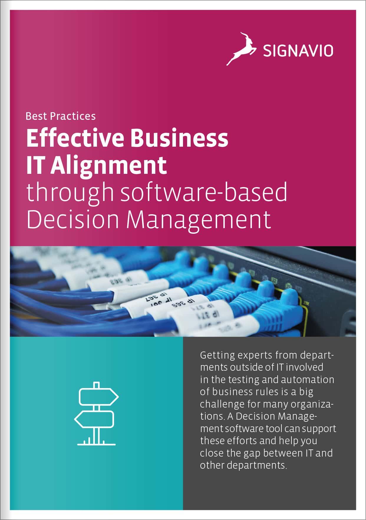 Signavio business and IT alignment