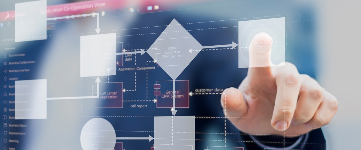 enterprise architecture modeling on a screen