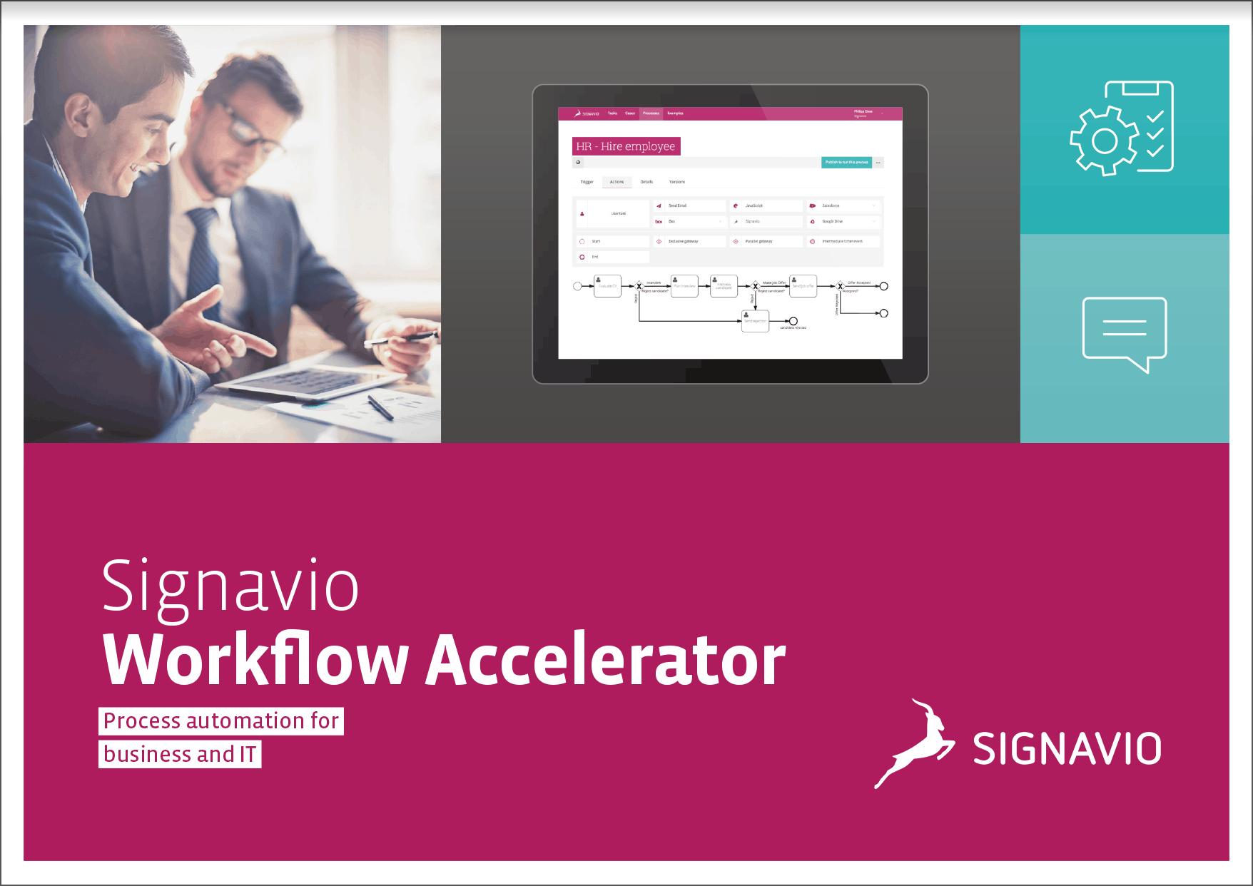 Signavio Workflow Accelerator Brochure