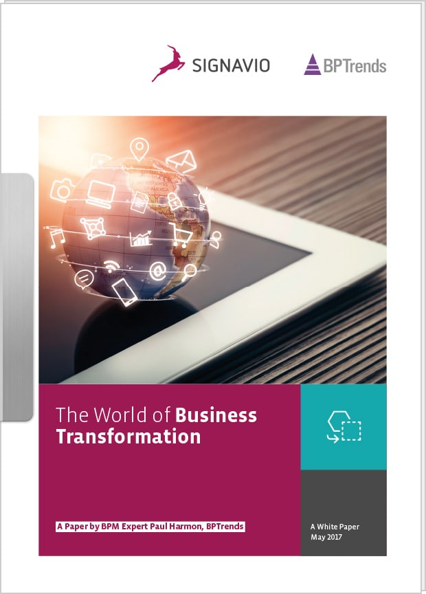 the world of business transformation whitepaper preview image