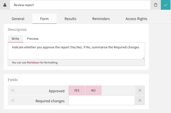 Multi-user task form