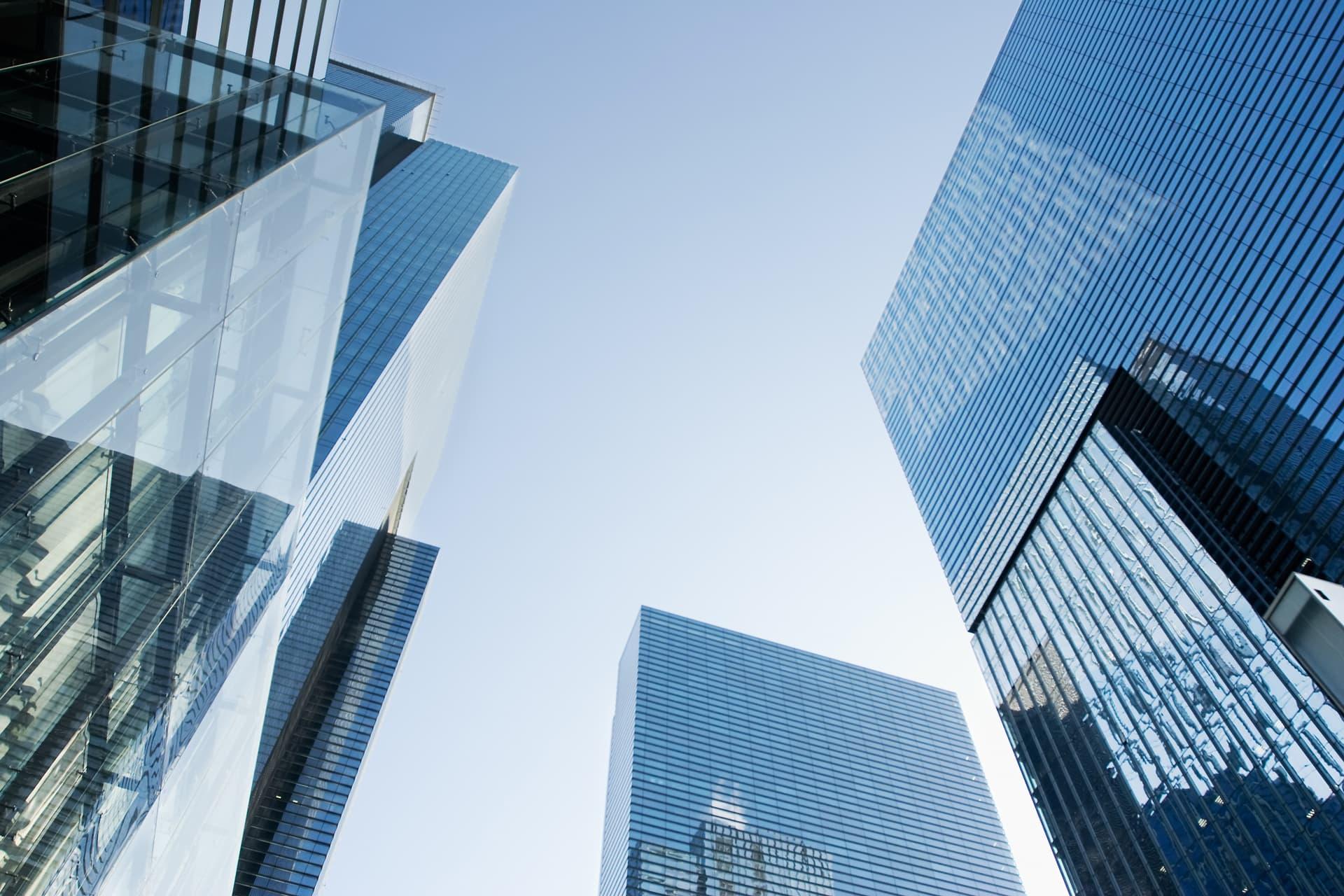 Digitalisierung der Banken - Wolkenkratzer