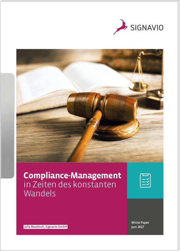 Modernes Compliance Management : Gesetzbuch und Hammer