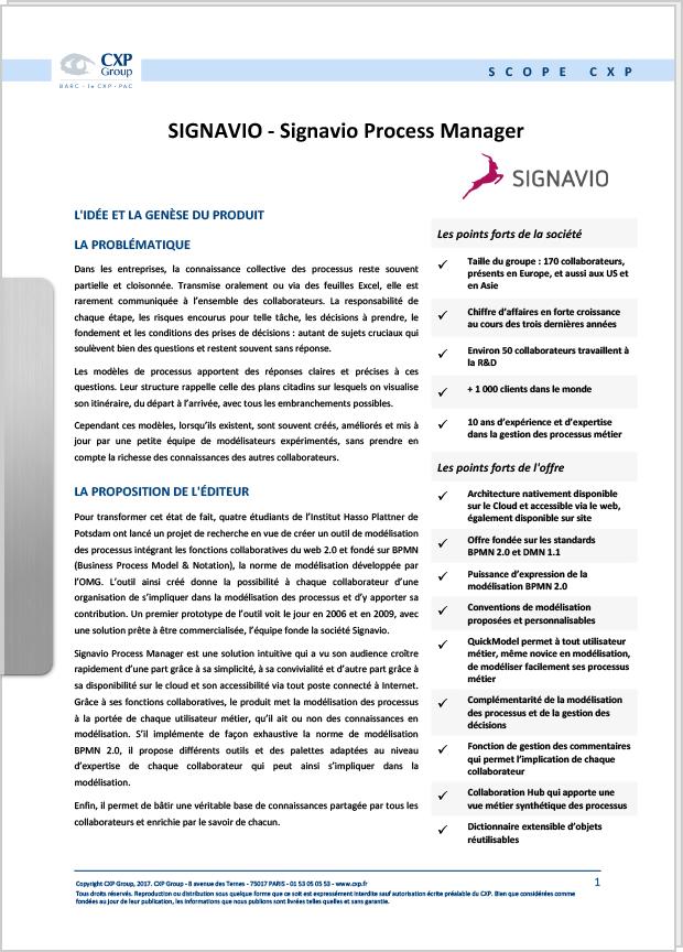whitepaper Signavio Process Manager - Scope CXP preview
